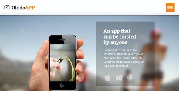 OkidoApp - Responsive, Retina Ready Landing Page