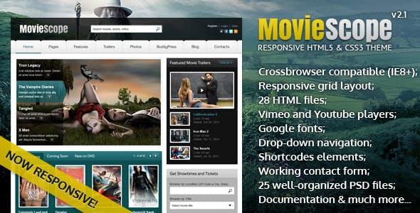 MovieScope -HTML5 & CSS3 Portal Template