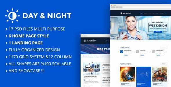 Day & Night Multi Purpose Creative Theme - Creative Photoshop