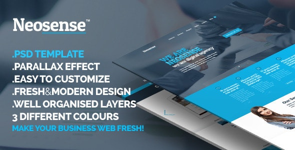 Neosense - Fresh Corporate Creative Template - Business Corporate
