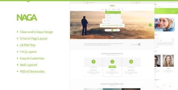 Naga - Multi Purpose PSD Template - Creative Photoshop