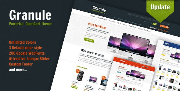 Granule - powerful OpenCart theme - Shopping OpenCart