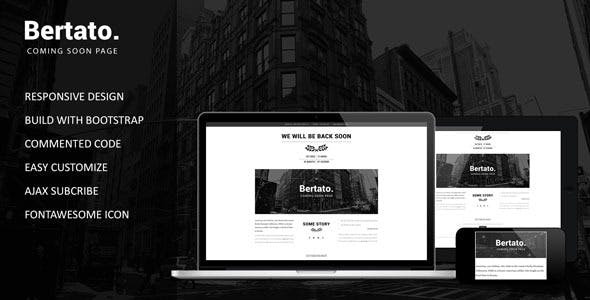 Bertato - Responsive Coming Soon Page