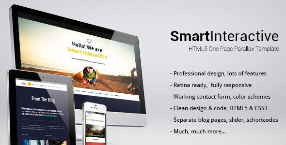 Smart Interactive HTML5 One Page Creative Parallax - Creative Site Templates