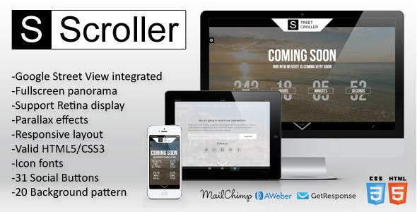 Street Scroller - Panoramic Coming Soon Template