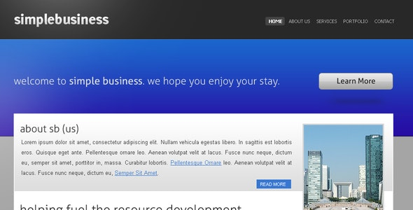 SimpleBusiness Theme - Business Corporate