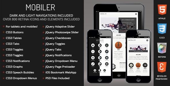 Mobiler Mobile - Mobile Site Templates