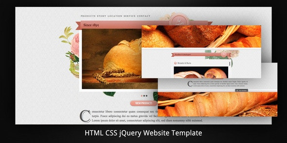 Old Bakery–Layered (Parallax) HTML5 Web Template - Creative Site Templates