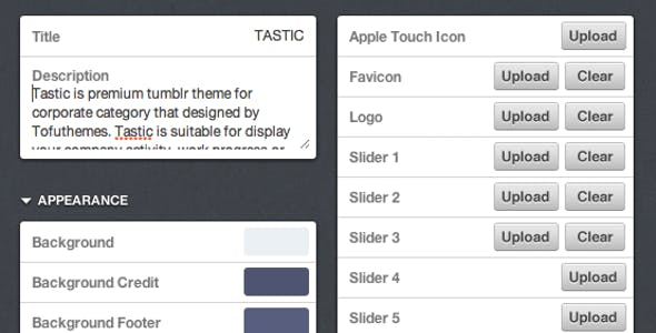 TASTIC Tumblr Theme