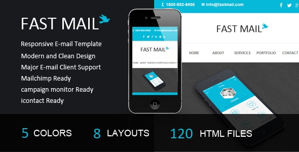 Fast Mail- Responsive E-mail Template - Email Templates Marketing