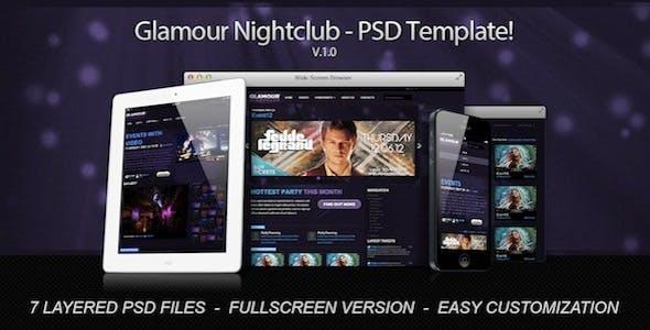 Glamour Nightclub - PSD Template