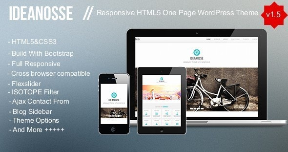 Ideanosse - Responsive One Page WordPress Theme by