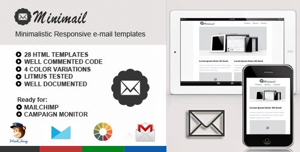 miniMail Responsive Email Template - Email Templates Marketing