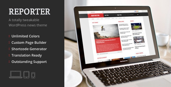 Reporter, a Totally Tweakable WordPress News Theme - News / Editorial Blog / Magazine