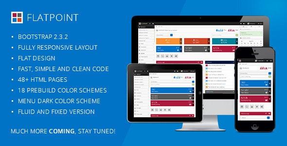 Flatpoint - Responsive Admin Dashboard Template - Admin Templates Site Templates