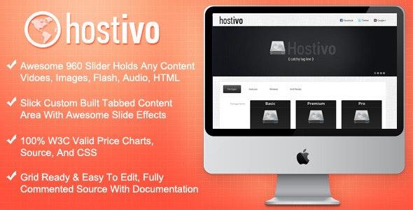 Hostivo Hosting Landing Page - Hosting Technology