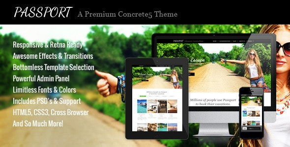 Passport - A Premium Concrete5 Theme - Creative Concrete5