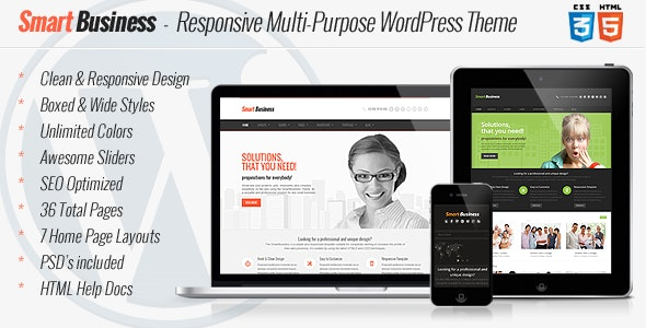 SmartBusiness - Responsive Multi-Purpose WordPress - Business Corporate