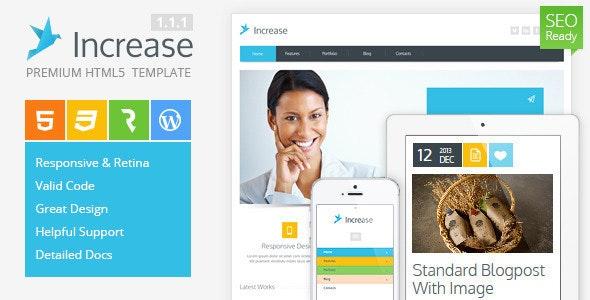 Increase - Premium Corporate HTML5 Template - Business Corporate