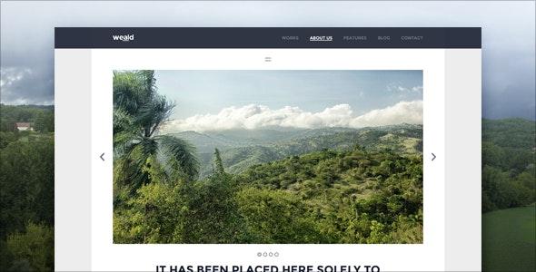 Weald - Flat Responsive Portfolio WordPress theme - Portfolio Creative
