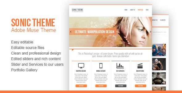 Sonic Theme - Muse Templates