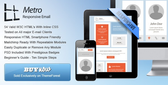 54 General Metro Email Templates - Dark / Light - Newsletters Email Templates