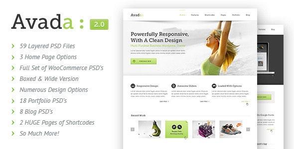 Avada | PSD - Corporate PSD Templates