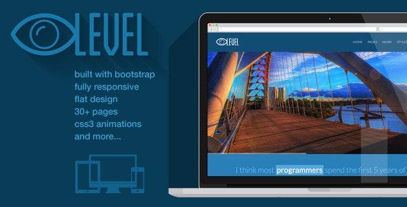 iLevel - Responsive Flat Design Bootstrap Template - Portfolio Creative