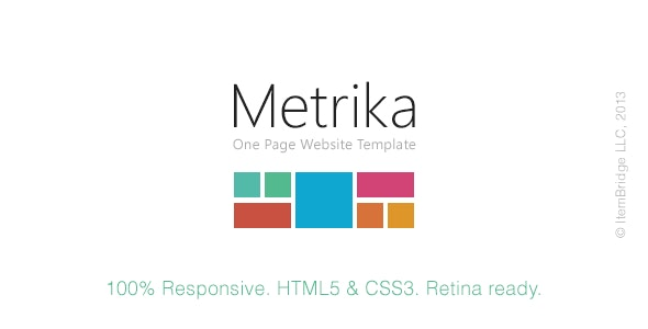 Metrika — Responsive OnePage Template - Portfolio Creative