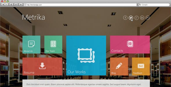 Metrika — Responsive OnePage Template
