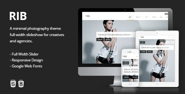 RIB - Responsive HTML5 Photography Template - Photography Creative
