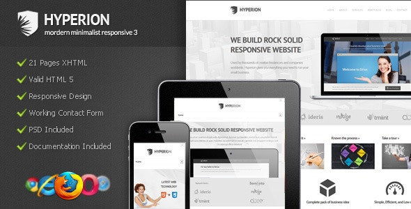 Hyperion - Modern Minimalist Responsive 3 by Indonez