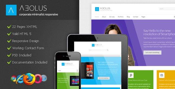 Aeolus - Corporate Minimalist Responsive