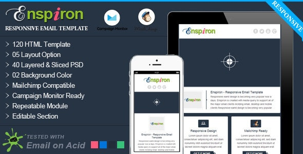 Enspiron - Professional Responsive Email Template - Email Templates Marketing