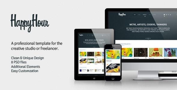 InHappyHour - Responsive Retina Ready HTML Template - Portfolio Creative