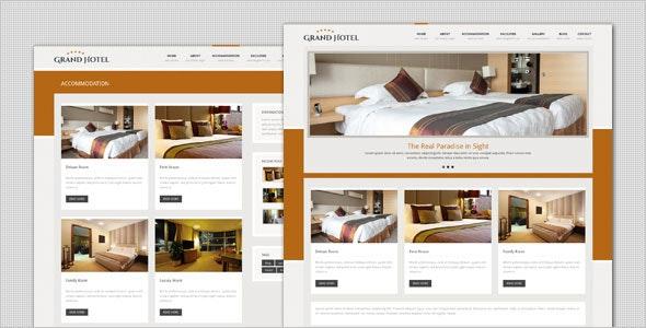 Grand Hotel - Resorts Business  WordPress Theme - Travel Retail