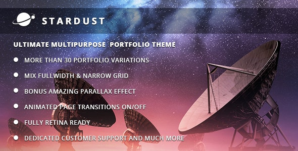 Stardust - Multi-Purpose Portfolio WordPress Theme - Portfolio Creative