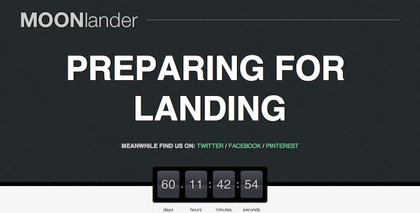 MOONlander: Responsive Countdown Landing Page