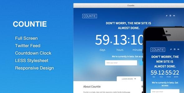 Countie: Fullscreen, Responsive Countdown Landing by themewizzcom
