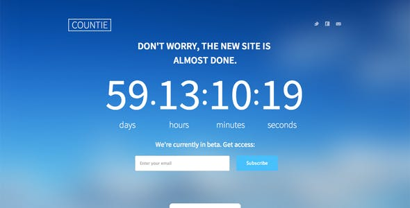 Countie: Fullscreen, Responsive Countdown Landing