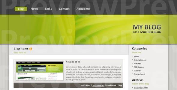 Blog Theme green