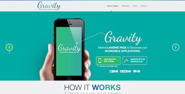 Gravity - Mobile App Landing Page (PSD)