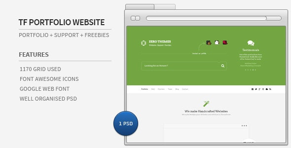 Envato Portfolio + Support + Freebies Website - Portfolio Creative