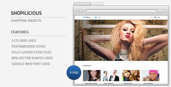Shopilicious - Shopping website - Shopping Retail