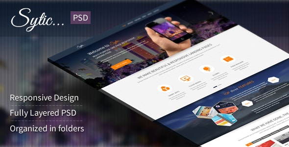 Sytic - Multi-Purpose PSD Landing Page - Photoshop UI Templates