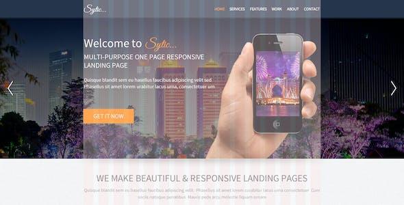 Sytic - Multi-Purpose PSD Landing Page