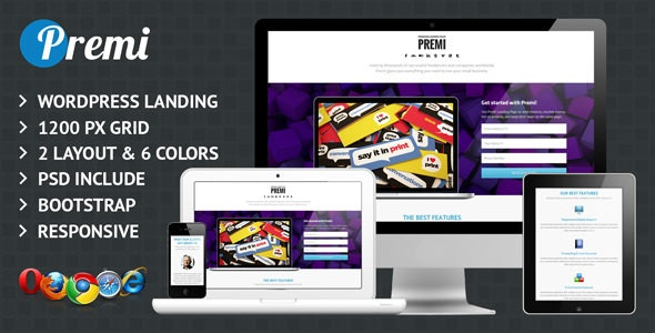 Premi - Premium Business Wordpress Landing Page - Business Corporate