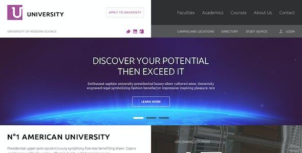 University – Education Flat UI PSD Template