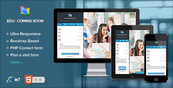 Edu - Educational and Courses coming soon page
