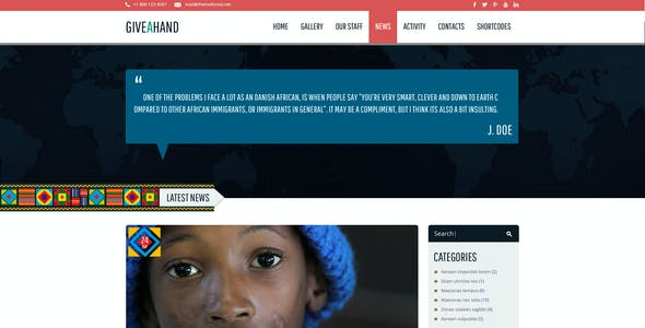 GiveAHand - Charity PSD Template